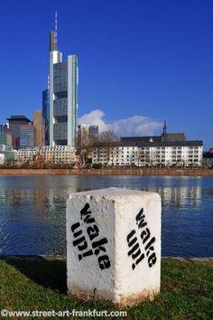 Stencil Street-Art in Frankfurt.