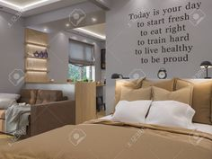 3d Illustration Living Room, Bedroom And Kitchen Interior Design... Stock Photo, Picture And Royalty Free Image. Image 57693964.