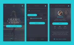Hairstylist Booking App | Mobile User Interface Design #UIdesign