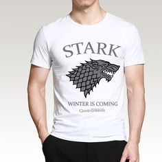 >> Click to Buy << House Stark Winter Is Coming T Shirts Men 2017 Summer Game of Thrones Men Short Sleeve Shirt Cotton Hip Hop Slim Fit Tops Tees #Affiliate