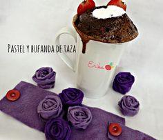 Reciclando con Erika : Bufanda de fieltro para taza  y Mug cake de chocol...
