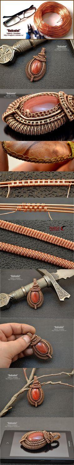 Подвеска из проволоки. Wire Wrap Pendant  - http://magazin-rukodel.ru/
