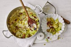 This classic Irish side dish combines sprouts with crispy, smoky bacon and smooth, hearty mashed potato for a deliciously hearty winter warmer.
