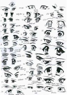 How to draw manga/anime eyes ✤ || CHARACTER DESIGN REFERENCES | キャラクターデザイン | çizgi film • Find more at https://www.facebook.com/CharacterDesignReferences & http://www.pinterest.com/characterdesigh if you're looking for: bandes dessinées, dessin animé