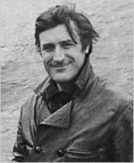 Yorkshire-born ex poet-laureate Ted Hughes... and in leather, no less!