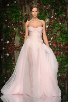 pink #bridal #gown #wedding #dress