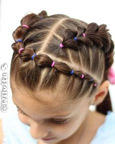 Image may contain: one or more people and closeup - Hairstyle - - Kinderfrisuren - Girls Hairdos, Cute Little Girl Hairstyles, Girls Natural Hairstyles, Baby Girl Hairstyles, Kids Braided Hairstyles, Natural Hair Styles, Short Hair Styles, Hairstyles For Toddlers, Toddler Hair Dos