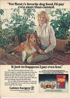 Collie advertising in the USA.