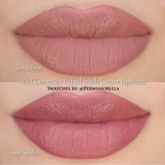 1. NYX Liquid Suede in Sandstorm 2. NYX Liquid Suede in Soft - Spoken