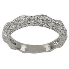 Diamond Antique Wedding Band This Would Make A Beautiful Anniversary Ring