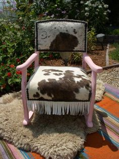 Awesome Custom Painted Purple Cowhide French Chair In 2019 Ocoug Best Dining Table And Chair Ideas Images Ocougorg