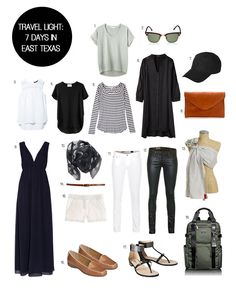 food for thought- outfit planning and packing light  travel-light-east-texas-7-days