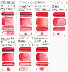 Red Pigmented Watercolour Paints - Désiré George Herman, Artiste Aquarelliste Watercolourist Blogueur Blogger