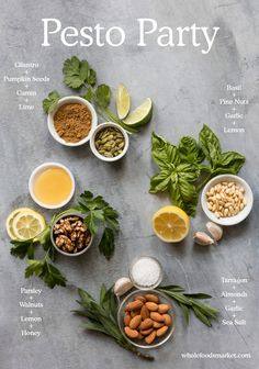 Pesto Party - 4 simple and easy variations for your summer recipes! Healthy Eating Recipes, Raw Food Recipes, New Recipes, Cooking Recipes, Favorite Recipes, Parsley Recipes, Healthy Grilling, Vegetarian Grilling, Sauces