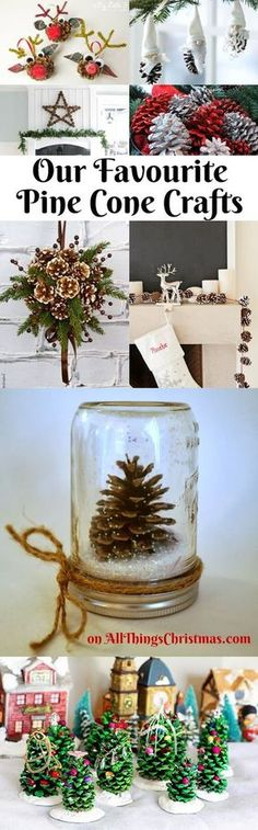 Easy Pine Cone Craft Ideas - Featured on AllThingsChristmas.com