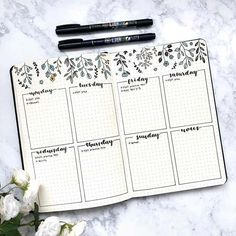 Bullet Journal Inspiration Planner Organization - 23 Bullet Journal Spread Ideas You'll Want to Copy Bullet Journal Aesthetic, Bullet Journal Notebook, Bullet Journal Themes, Bullet Journal Spread, Planner Journal, Bullet Journal Weekly Layout, Bullet Journal With Stickers, Bullet Journal Calendar Ideas, Bullet Journal Timetable