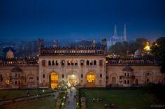 Bara Imambara by night, Lucknow, India.