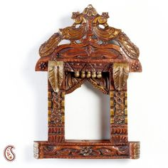 Online Shopping for Hand Made Wooden Jharoka with Twin  | Decoratives | Unique Indian Products by Apno Rajasthan - MAPNO37139116180