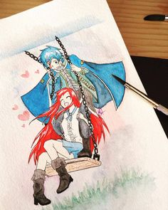Erza and Jellal by HeavenlyIllusions