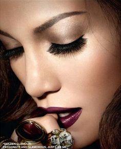 JLo's Burgundy Lips