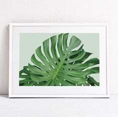 Green Plant Print-Plant Photography INSTANT DOWNLOAD Art-Green Leaf Art-Nature…