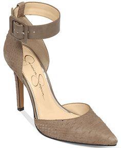 019d2cac55b2 Jessica Simpson Cayna Ankle Strap Pumps Shoes - Pumps - Macy s
