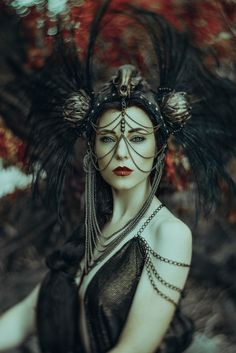 Greek goddess shoot the Role as Hades Model: Jessica Dru Headdress: Miss G… Estilo Tribal, Steampunk, Goddess Costume, Fantasy Photography, Portrait Photography, Creative Portraits, Dark Beauty, Gothic Beauty, Hades