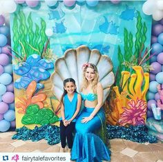 Waking up from this weekend's playful Mermaid Soiree by ! Featuring our under the sea backdrop, mermaid chair and balloons! Mermaid by BAMBINI SOIREE : décor design and specialty rentals for chic celebrations! Mermaid Under The Sea, Mermaid Birthday, Event Decor, Backdrops, Balloons, Tapestry, Celebrities, Instagram Posts, Painting