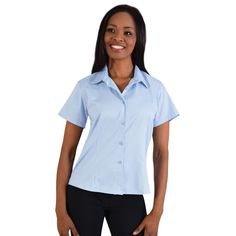 Show details for Ladies Classic Woven Shirt Short Sleeve Shirt Blouses, Shirts, Shirt Store, Lady, Classic, Sleeves, Tops, Women, Fashion