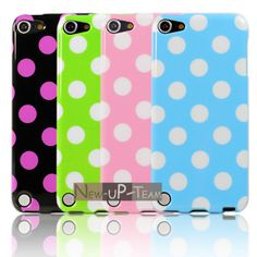 4PCS Polka Dot TPU Back Case Cover Skin for Apple ipod touch 5 5GEN 5TH