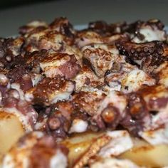 Receta de Pulpo gallego - Cómo se hace Spanish Dishes, Le Chef, Food Inspiration, Carne, Seafood, French Toast, Food And Drink, Pork, Beef