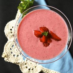 Yogurt and Srawberry Mousse