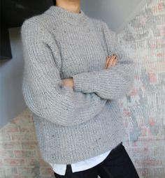 grey chunky knit