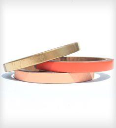 gold / coral / peach