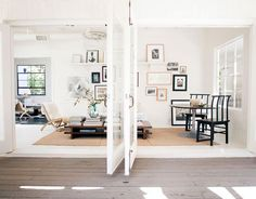 light and airy: such a lovely, lovely space