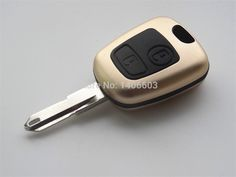 Gold 2 button Replacement shell Case for PEUGEOT 206 Remote key fob Cover for Citroen without logo 1pc  #Affiliate