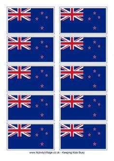 New Zealand Flag Printable- Thinking Day swaps?