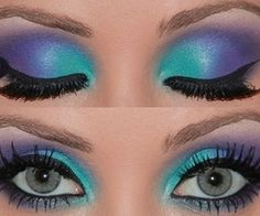 beautiful eye make-up... Looking forward to trying. Who wants to my model?