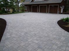 Permeable Paver Driveway - Discover home design ideas, furniture, browse photos and plan projects at HG Design Ideas - connecting homeowners with the latest trends in home design & remodeling Driveway Paving, Driveway Design, Paver Walkway, Concrete Driveways, Driveway Landscaping, Patio Design, Garden Design, Driveway Ideas, Walkways