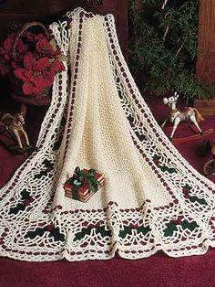 Crochet - Holiday & Seasonal Patterns - Christmas Patterns - Holly Afghan