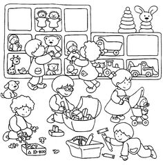 Sequenze di azioni quotidiane Coloring Pages For Boys, Colouring Pages, Adult Coloring, Art Drawings For Kids, Drawing For Kids, Cute Easy Nail Designs, Cute Simple Nails, Classroom Labels, Circle Time