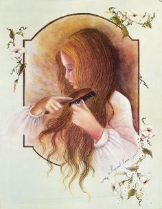 Girl Combing Her Hair ~ Margaret Kane
