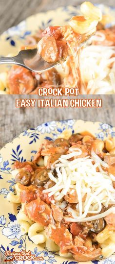 Crock Pot Easy Italian Chicken is a filling, yet simple recipe that has a delicious rich flavor.