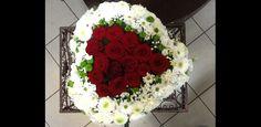 Fleuriste Deuil et obsèques - Composition florale Cœur de deuil