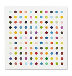 Damien Hirst, Art Lesson Plans, Dot Painting, Art Lessons, Contemporary Art, Art Pieces, Dots, Colours, Artist