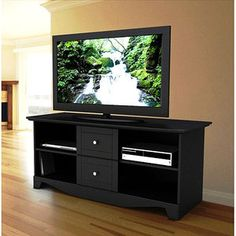 Visions Black TV Stand, for TVs up to 60""