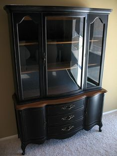 Planning to sand and paint my mother's old hutch to look just like this for our dining room.