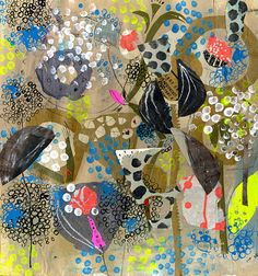 multi color by andrea_daquino, via Flickr love the collaged, drawn, and painted circles. gorgeous!!