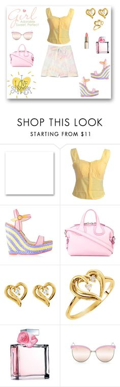 """""""Girl - Adorable. Sweet, Perfect!"""" by rboowybe ❤ liked on Polyvore featuring St. John, Sophia Webster, Givenchy, Ralph Lauren, Quay and contestentry"""