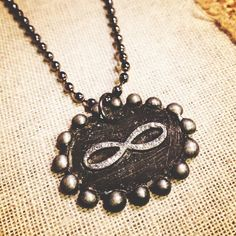 Glitter Infinity  wax seal  stamped Neckalce by thehansenfamily, $22.00